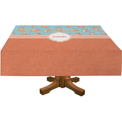 "Foxy Yoga Tablecloth - 58""x102"" (Personalized)"