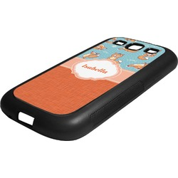 Foxy Yoga Rubber Samsung Galaxy 3 Phone Case (Personalized)