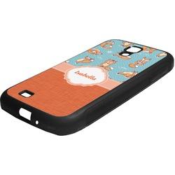 Foxy Yoga Rubber Samsung Galaxy 4 Phone Case (Personalized)