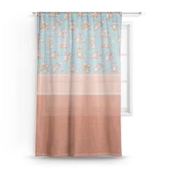 Foxy Yoga Sheer Curtains (Personalized)