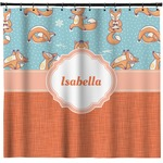 Foxy Yoga Shower Curtain (Personalized)