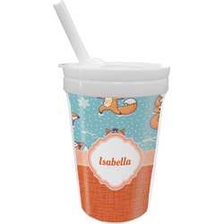 Foxy Yoga Sippy Cup with Straw (Personalized)