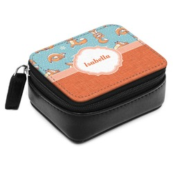 Foxy Yoga Small Leatherette Travel Pill Case (Personalized)