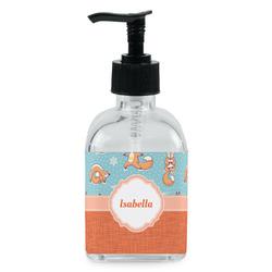 Foxy Yoga Soap/Lotion Dispenser (Glass) (Personalized)