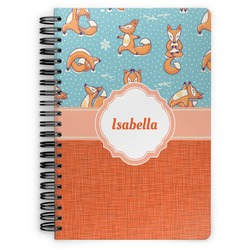 Foxy Yoga Spiral Notebook (Personalized)