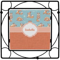 Foxy Yoga Square Trivet (Personalized)