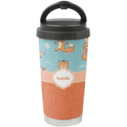 Foxy Yoga Stainless Steel Travel Mug (Personalized)