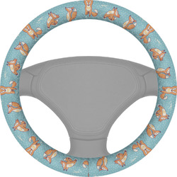 Foxy Yoga Steering Wheel Cover (Personalized)