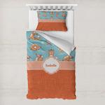 Foxy Yoga Toddler Bedding w/ Name or Text