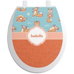 Foxy Yoga Toilet Seat Decal (Personalized)
