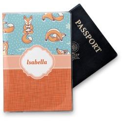 Foxy Yoga Vinyl Passport Holder (Personalized)