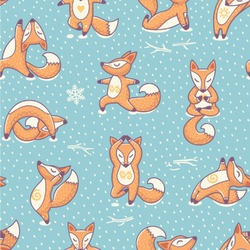 Foxy Yoga Wallpaper & Surface Covering