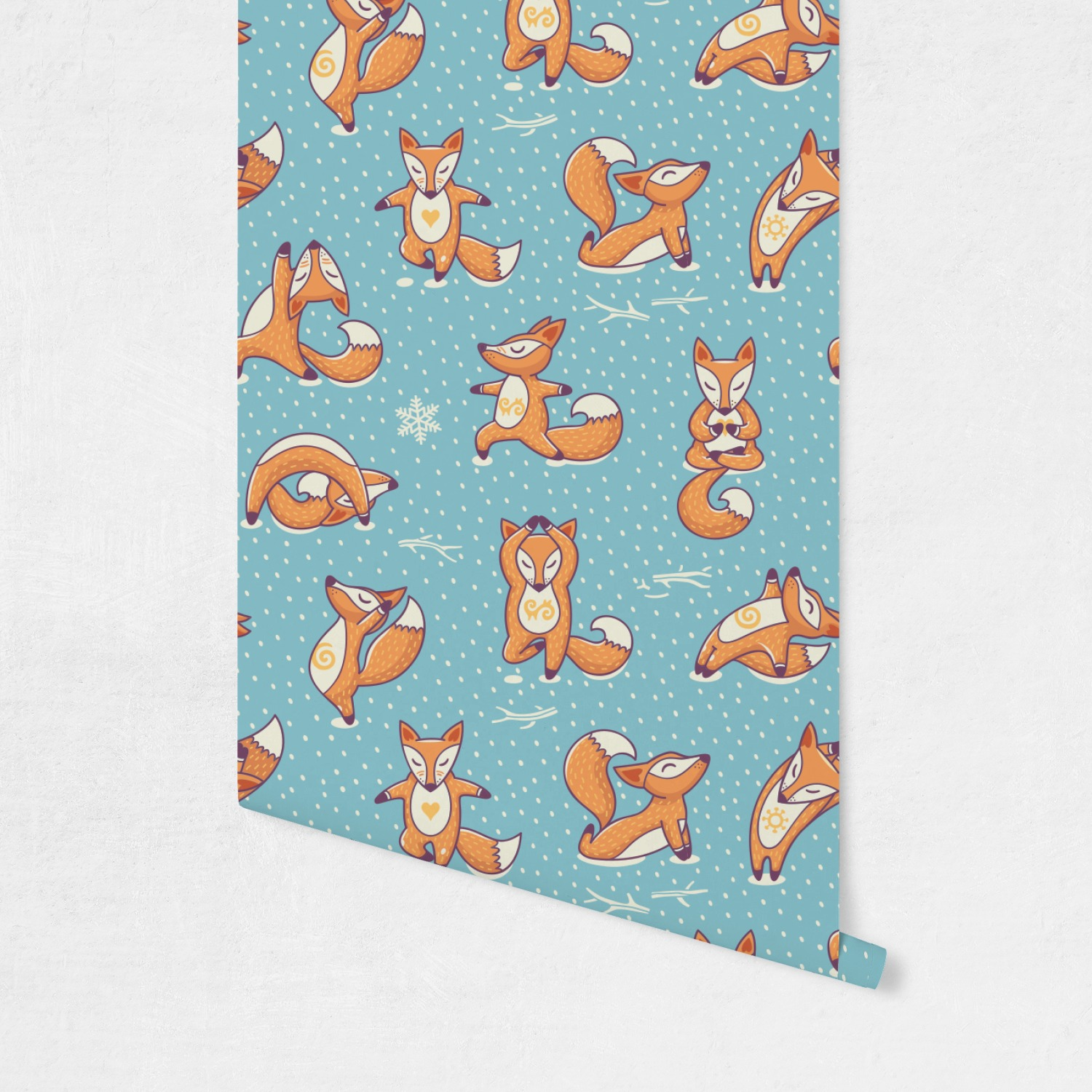 Foxy Yoga Wallpaper Amp Surface Covering Peel Amp Stick