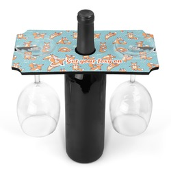 Foxy Yoga Wine Bottle & Glass Holder (Personalized)