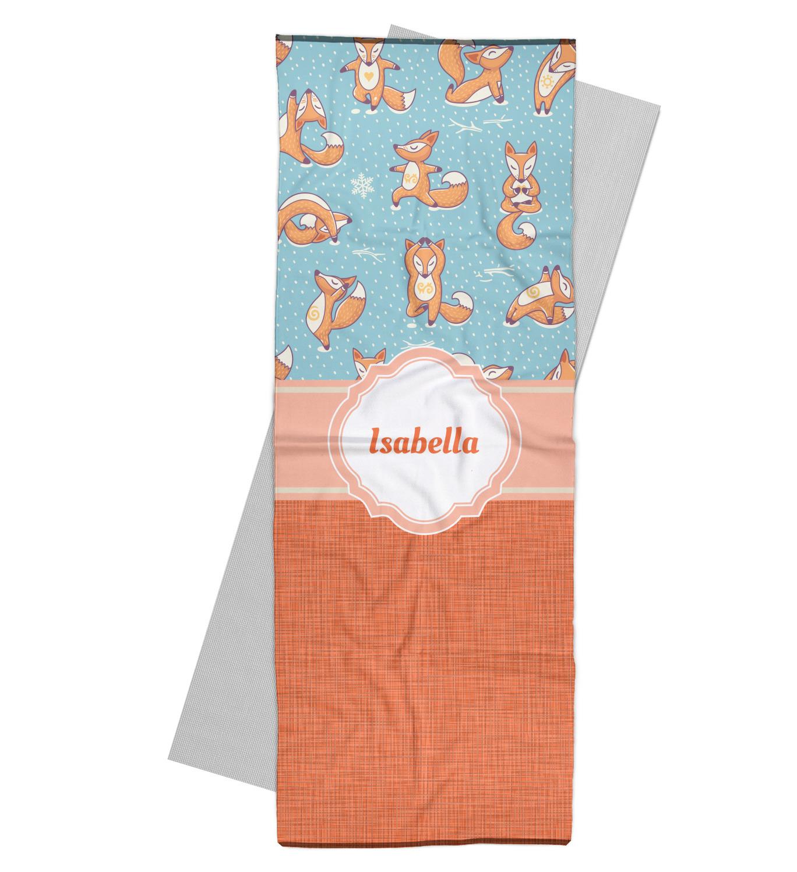 Foxy Yoga Yoga Mat Towel (Personalized)