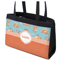 Foxy Yoga Zippered Everyday Tote (Personalized)