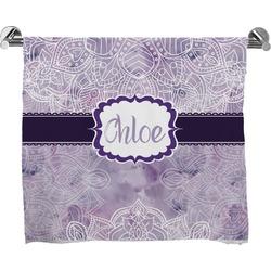 Watercolor Mandala Full Print Bath Towel (Personalized)