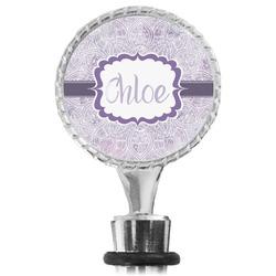 Watercolor Mandala Wine Bottle Stopper (Personalized)