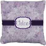 Watercolor Mandala Faux-Linen Throw Pillow (Personalized)