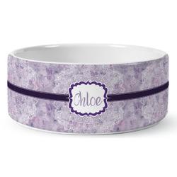 Watercolor Mandala Ceramic Pet Bowl (Personalized)