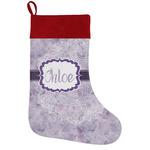 Watercolor Mandala Holiday Stocking w/ Name or Text