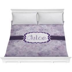 Watercolor Mandala Comforter - King (Personalized)