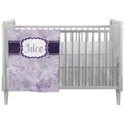 Watercolor Mandala Crib Comforter / Quilt (Personalized)