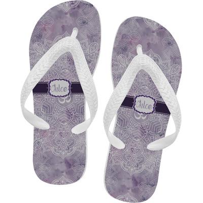 Watercolor Mandala Flip Flops (Personalized)