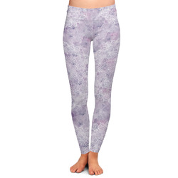 Watercolor Mandala Ladies Leggings - Large (Personalized)