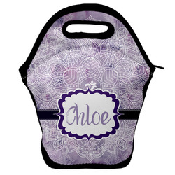 Watercolor Mandala Lunch Bag w/ Name or Text