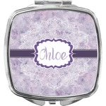 Watercolor Mandala Compact Makeup Mirror (Personalized)