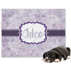 Watercolor Mandala Minky Dog Blanket (Personalized)