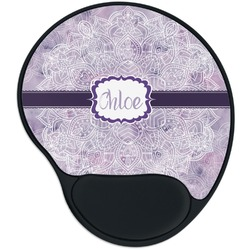 Watercolor Mandala Mouse Pad with Wrist Support