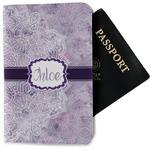 Watercolor Mandala Passport Holder - Fabric (Personalized)
