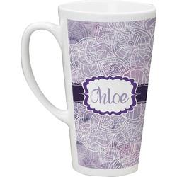 Watercolor Mandala Latte Mug (Personalized)
