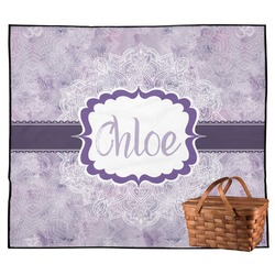 Watercolor Mandala Outdoor Picnic Blanket (Personalized)