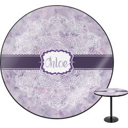 "Watercolor Mandala Round Table - 30"" (Personalized)"