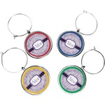 Watercolor Mandala Wine Charms (Set of 4) (Personalized)