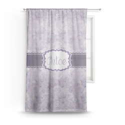 "Watercolor Mandala Sheer Curtain - 50""x84"" (Personalized)"