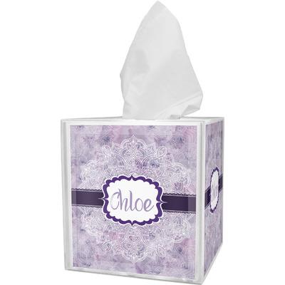Watercolor Mandala Tissue Box Cover (Personalized)