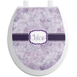 Watercolor Mandala Toilet Seat Decal (Personalized)