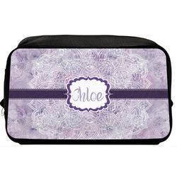 Watercolor Mandala Toiletry Bag / Dopp Kit (Personalized)