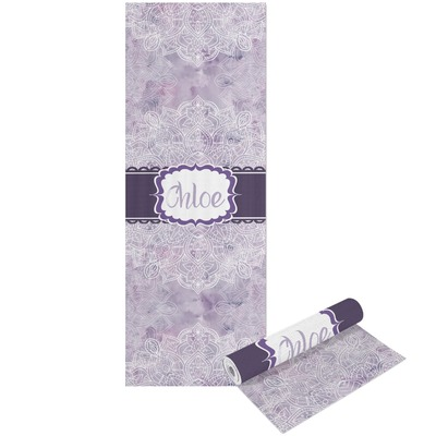 Watercolor Mandala Yoga Mat - Printable Front and Back (Personalized)