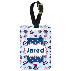 Patriotic Celebration Metal Luggage Tag w/ Name or Text