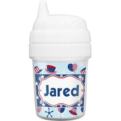 Patriotic Celebration Baby Sippy Cup (Personalized)