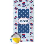 Patriotic Celebration Beach Towel (Personalized)