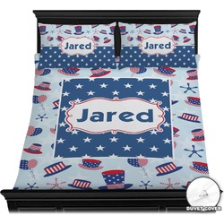 Patriotic Celebration Duvet Cover Set (Personalized)