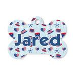Patriotic Celebration Bone Shaped Dog Tag (Personalized)