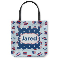 Patriotic Celebration Canvas Tote Bag (Personalized)