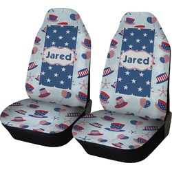 Patriotic Celebration Car Seat Covers (Set of Two) (Personalized)
